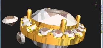 それぞれのダイヤモンドが 一塊の光の集合体に見える!!ってことです。