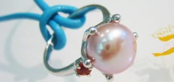 ピンク真珠をペンダントに!