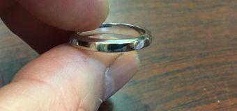これで、ひと安心。結婚指輪が出来ました。