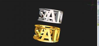 ジュエリーCADを使い、3Dプリンタで製作する「ネームジュエリー」  あなたも作れますっ!
