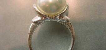 真珠の指輪の作り替え