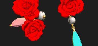 珊瑚の真っ赤な薔薇は、華やかさを一段と表現してくれる宝石素材ですね。