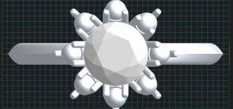 3Dでグルグルと立体でデザインしていきます。